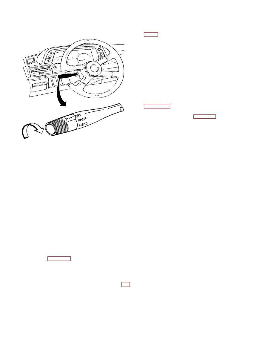 Figure 16-8. Turn Signal Lever-Mounted Headlamp Switch.