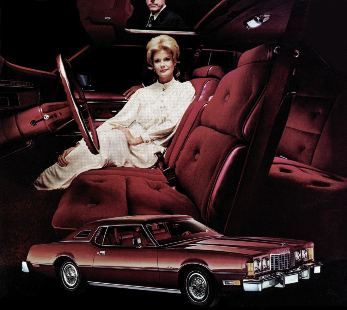 1974 Ford Thunderbird Burgundy Luxury Group
