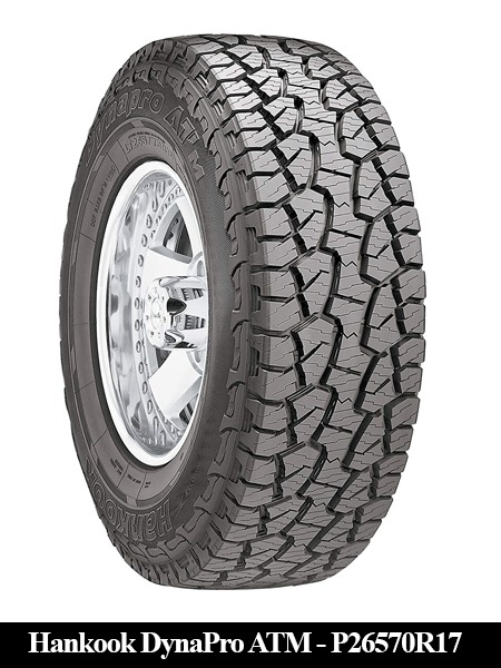 """Hankook DynaPro ATM RF10 Off-Road Tire - P26570R17"""" 113T-Top 10 Tires Companies All Seasons"""
