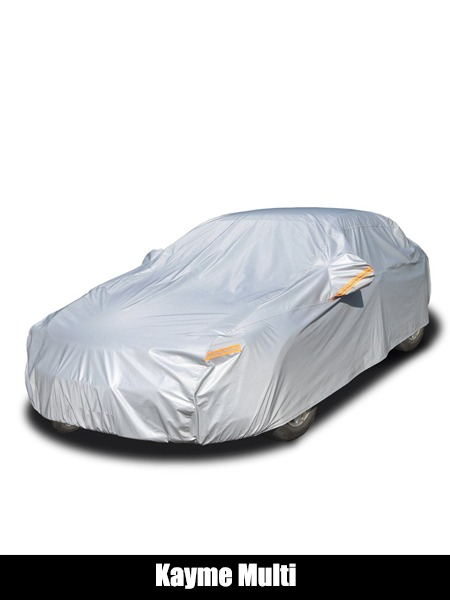 Kayme Multi-Layer Car Cover Waterproof All Weather for Automobiles, Outdoor Full Cover Rain Sun UV Protection with Zipper Cotton, Universal Fit for Sedan - Top 10 Car Cover Reviews