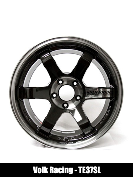 Volk Racing TE37SL PRESSED DOUBLE BLACK Wheel Rim - Top 10 Best Car Wheels Aftermarket Reviews