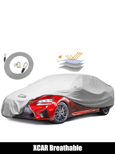 XCAR Breathable Dust Prevention Car Cover-Fits Sedan Hatchback Up to 200 Inch in Length - Top 10 Car Cover Reviews