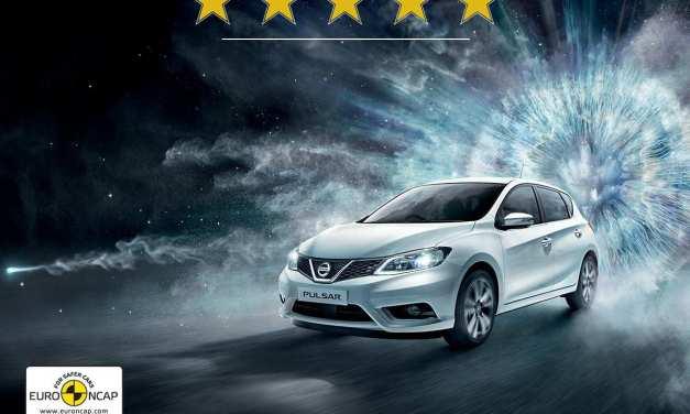 La nuova Nissan Pulsar 5 stelle del severo test Euro NCAP
