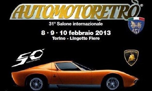 Torna l'appuntamento con Automotoretrò a Torino dal 13 al 15 Febbraio