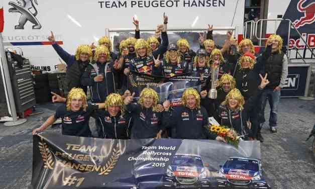 Team Peugeot Hansen è Campione del Mondo Rallycross