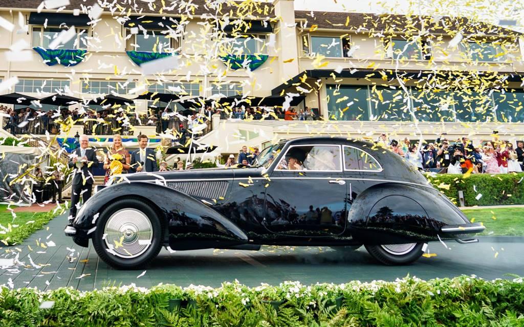 Un Alfa Romeo 8C 2900B Touring de 1937 se lució en Pebble Beach
