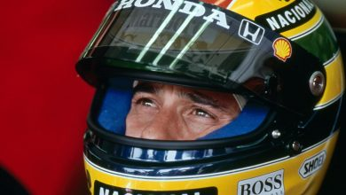 Photo of Ayrton Senna y su casco emblemático