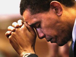 Obama prays