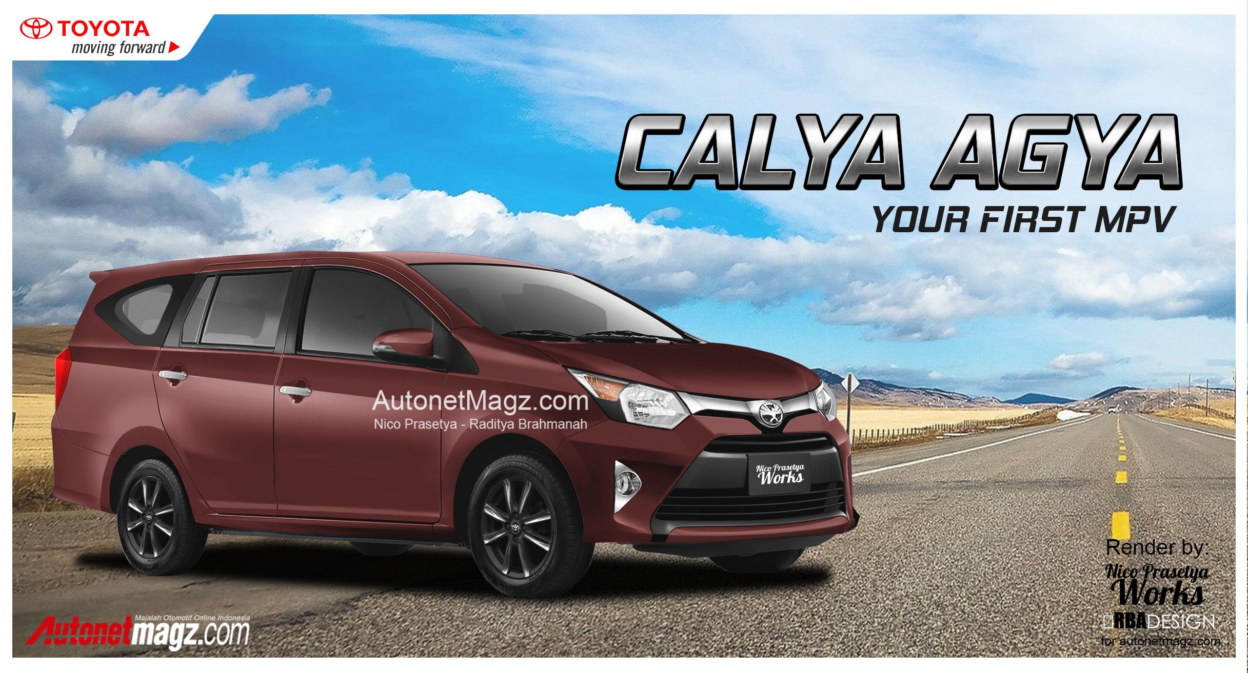 Ini Wujud Toyota Calya Agya 7 Seater Pembunuh Datsun GO