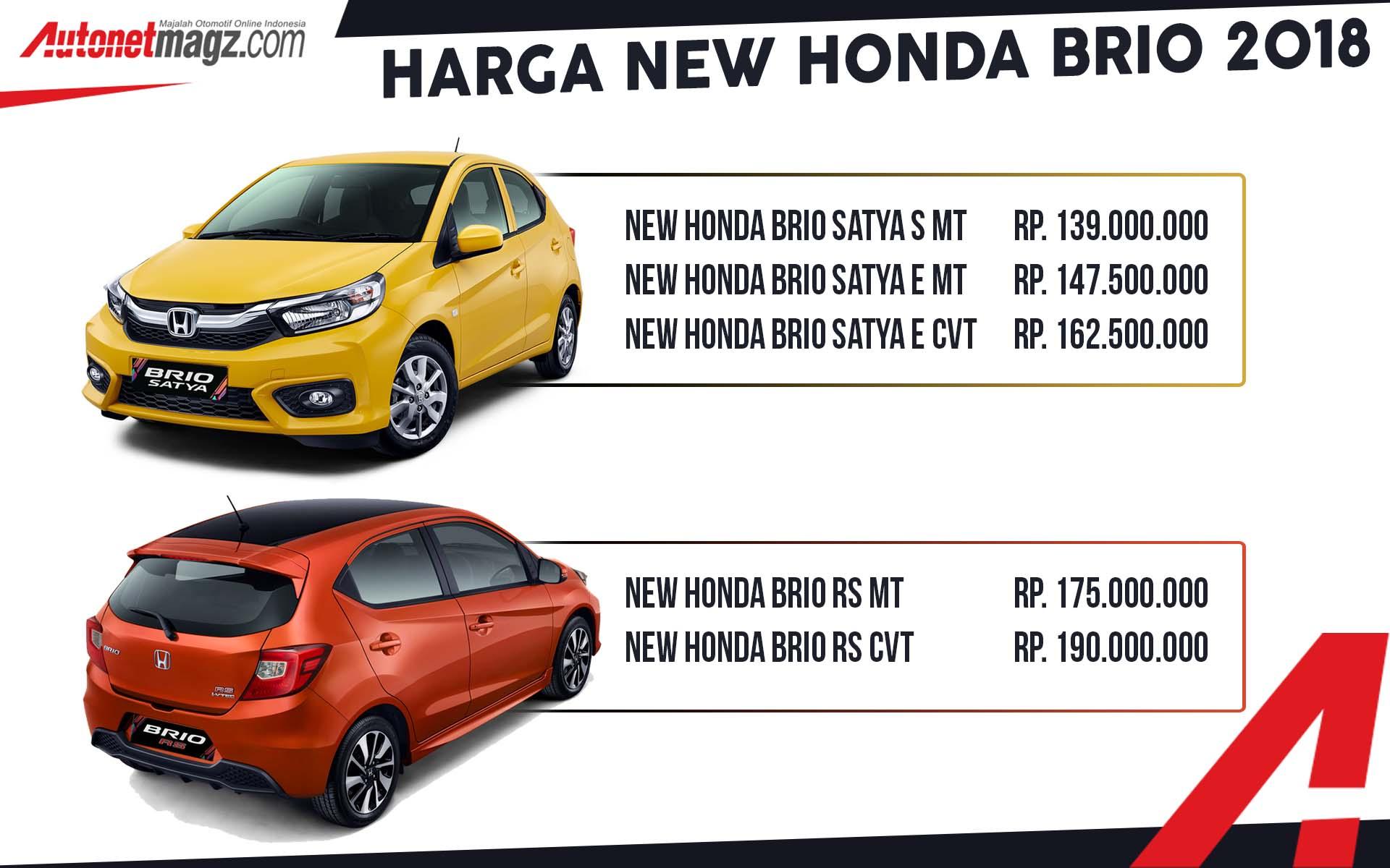 Honda brio 2018 bisa jadi pilihan city car bekas tahun muda rp 100 jutaan untuk tipe e facelift manual dan 1.2 s matik facelift. harga brio | AutonetMagz :: Review Mobil dan Motor Baru Indonesia
