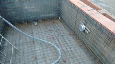 gunitado _01 piscina preparada para iniciar fase de gunitado, Villalba