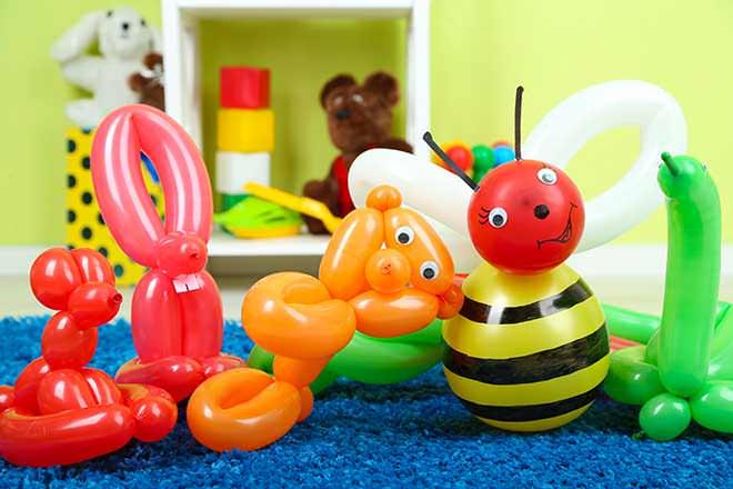 Decoração com bexigas e balões
