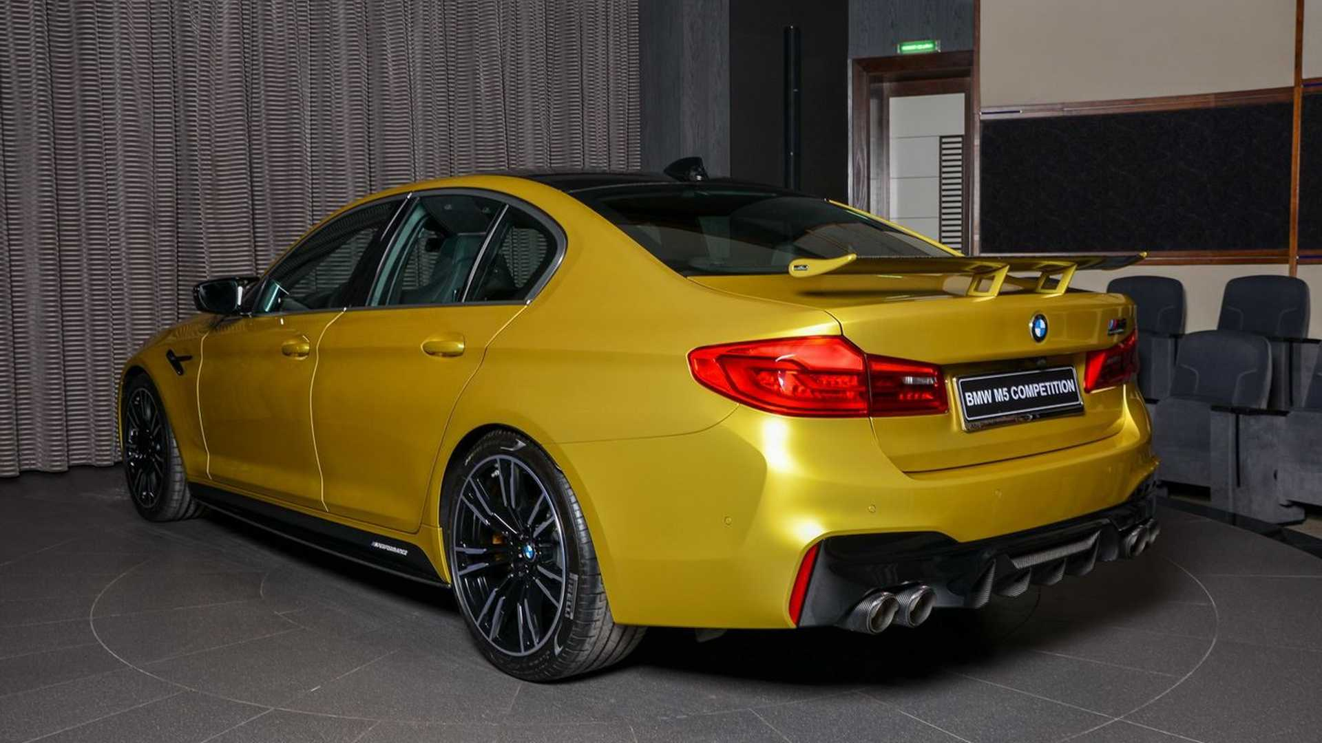 BMW M5 Competition Austin Yellow powered by Ac Schnitzer