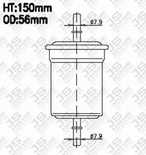 FC-5516 FC-5516 Fuel filter diesel SAKURA