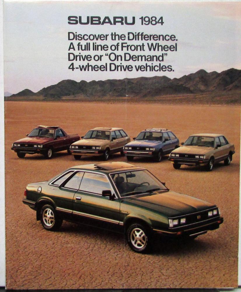 1987 Subaru Gl Wagon : subaru, wagon, Subaru, Hardtop, Sedan, Hatchback, Wagon, Color, Sales, Folder, Original