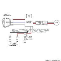 Wiring Diagram For Light Bar Rocker Switch 3 Pole Contactor Lamphus Harness – Auto Parted