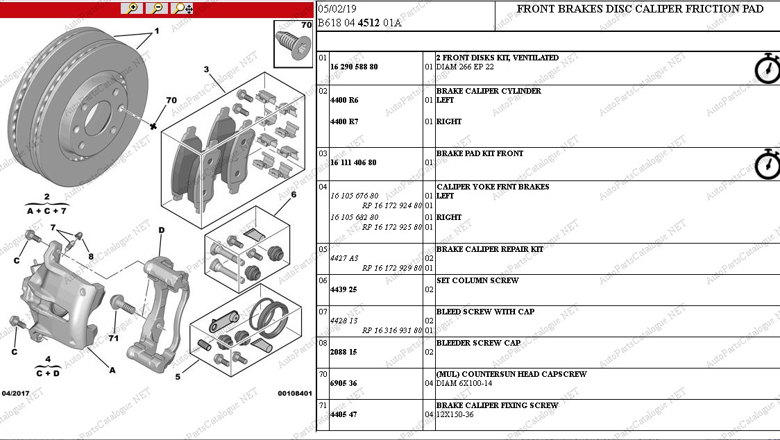 Citroen Service Box 2021 Online Dealer Parts Catalog