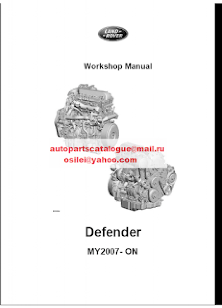 Land Rover/ Range Rover Workshop Manual, Service Manual