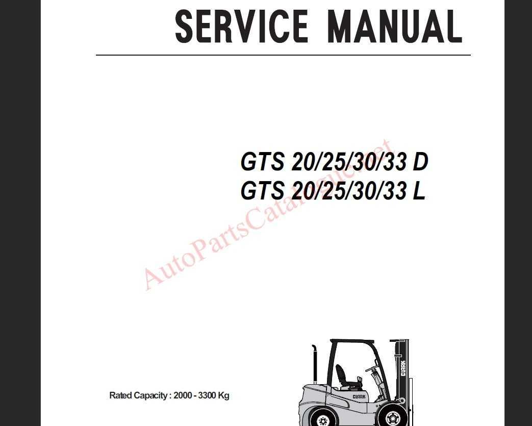 2020 Clark Forklift trucks Service Manuals Complete PDF