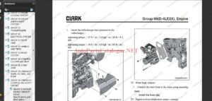 Clark Forklift Trucks Service Repair Manuals [2021] PDF