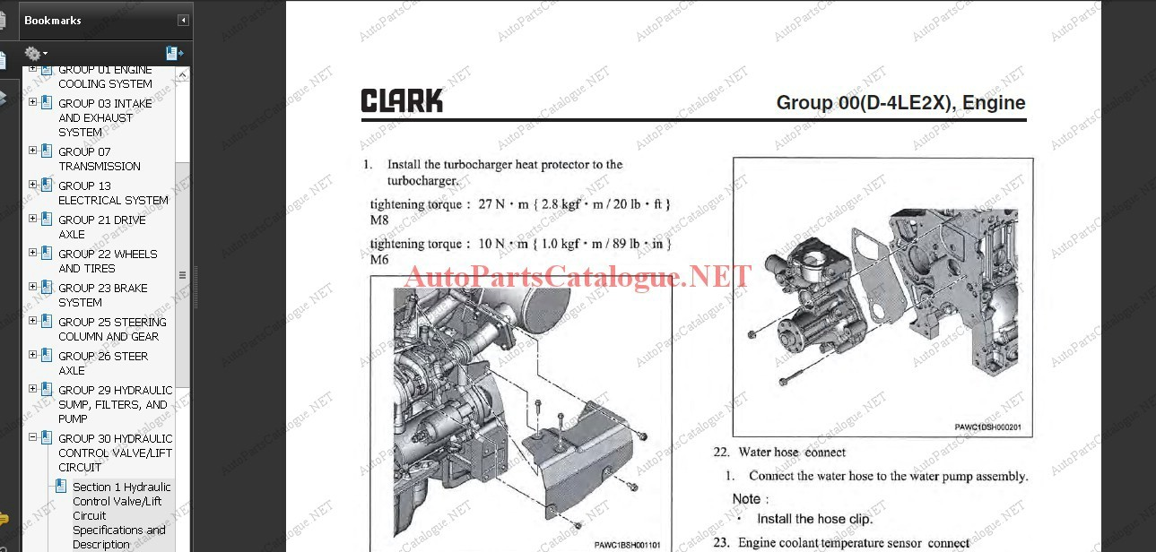 Clark Forklift Trucks Service Repair Manuals [2021] PDF