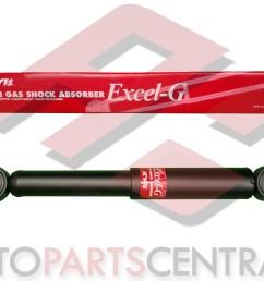 shock absorber kyb excel g rear nissan urvan caravan  [ 5168 x 2907 Pixel ]