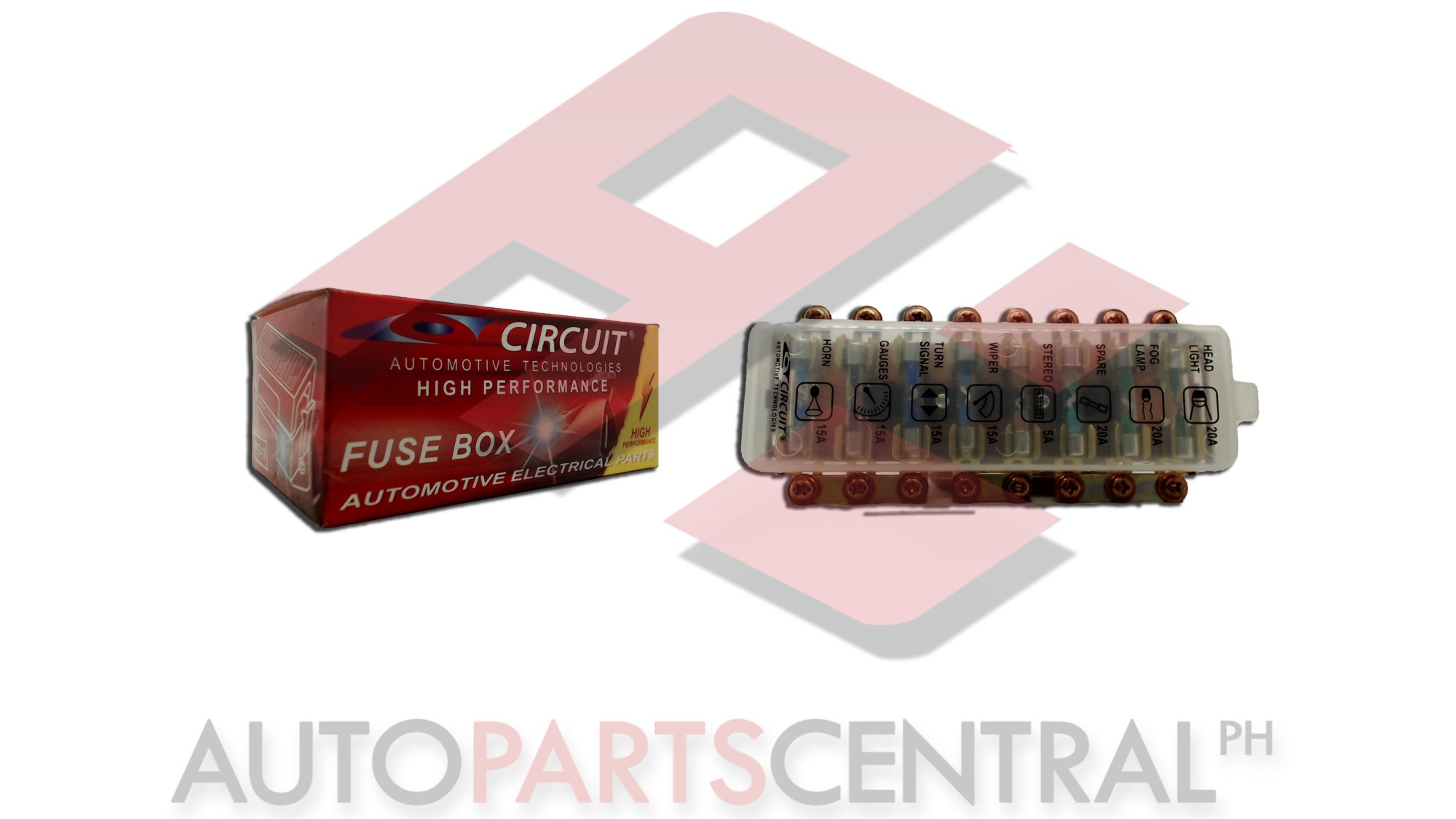 hight resolution of fuse box circuit 8 terminal glass type