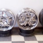 Shiny alloy wheels