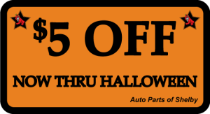 $5 OFF Your Total Purchase thru Halloween 2014