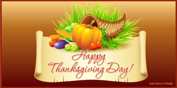 Happy Thanksgiving from Auto Parts of Shelby
