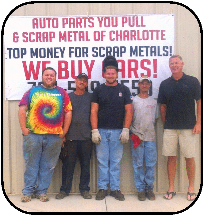 Charlotte Crew - a few of the staff at Auto Parts U Pull of Charlotte