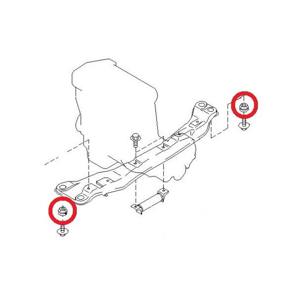 4 Crossmember Body Frame Mount Bushing Cushion Rubber For