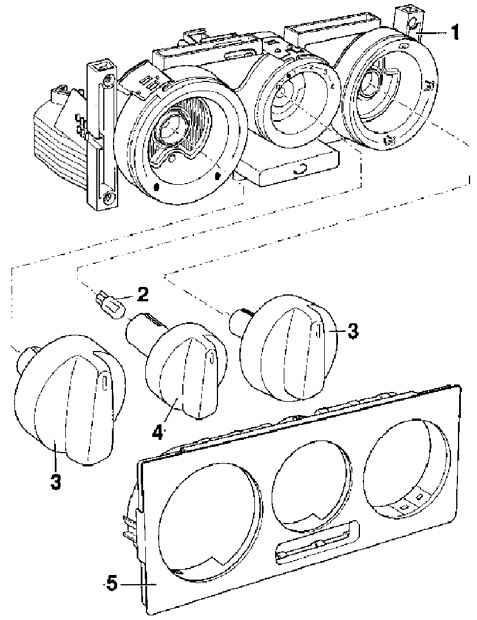 Passat B5 Элементы блока управления отопителем — Форум