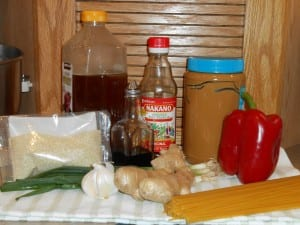 Crunchy Noodle Salad Ingredients