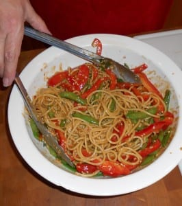 crunchy asian noodle salad, grannie geek