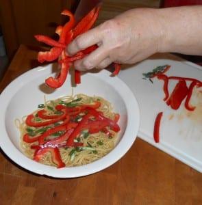 Crunchy Noodle Salad in Bowl