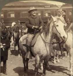 grannie geek president roosevelt arrives at yellowstone national part 1903