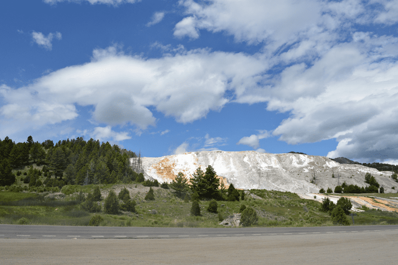 grannie geek, mammoth hot springs, yellowstone