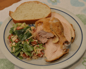 grannie geek, baked chicken and orzo salad