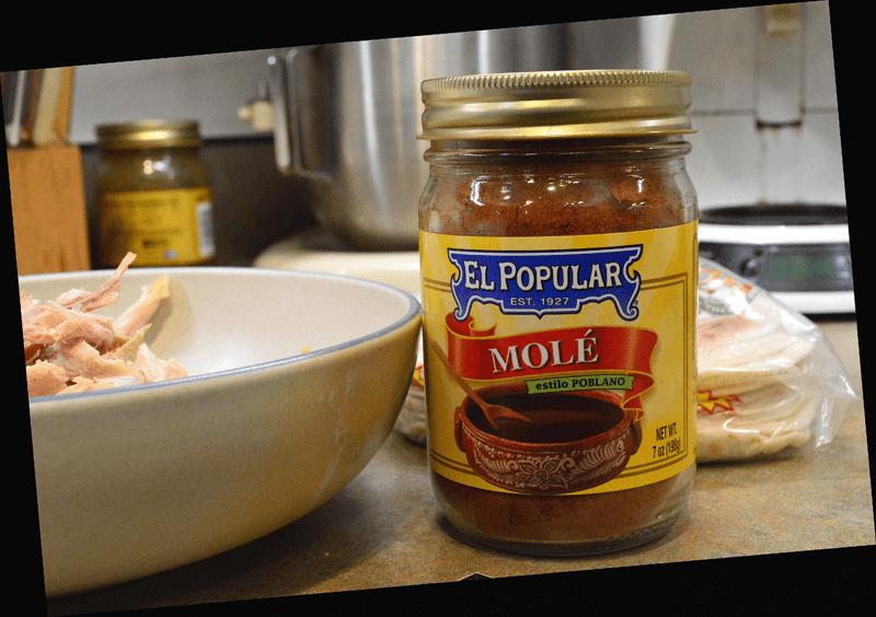 grannie geek, turkey enchiladas el popular mole