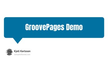 GroovePages Demo