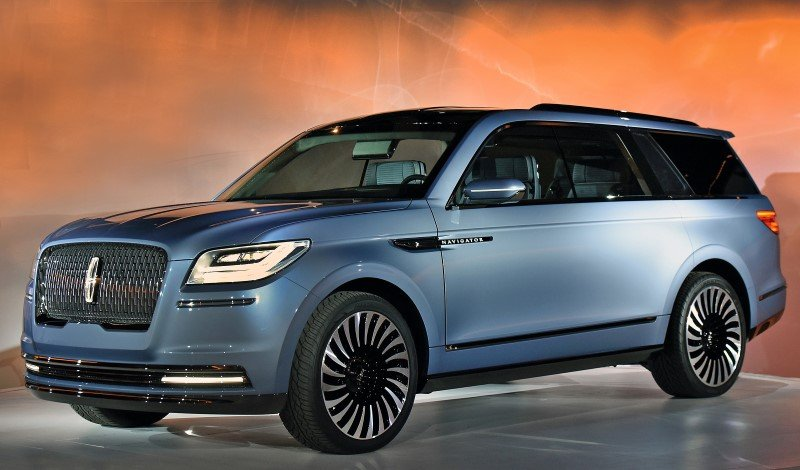 """NEW YORK, March 23, 2016 --€"""" Lincoln today reveals the all-new Navigator Concept, introducing quiet luxury to full-size SUVs and offering a glimpse at what comes next for the brand's best-known nameplate. Lincoln invented the large luxury SUV in 1997, and now is reimagining Navigator for modern clients interested in better performance, more space and further refinement. Lincoln's design team drew inspiration from luxury sailboats and yachts when designing the new concept. This influenced everything from the clean, modern lines and Storm Blue paint on the exterior that mimics the grays and blues of sea and sky, to the teak finishes, custom gear and wardrobe management system found inside. The Navigator Concept is engineered to provide drivers peace of mind. It features a 3.5-liter twin-turbo V6 engine delivering more than 400 horsepower and smart new technologies to make this SUV even more sure-footed on different road surfaces and in changing weather conditions. Photo by: Sam VarnHagen"""