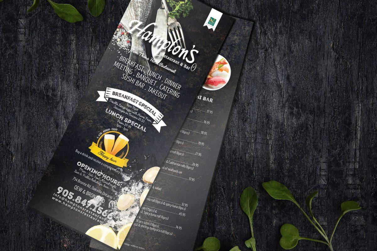 layout design food menu