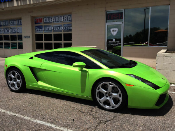 Lamborghini tinted by Autoplex Window Tinting, the best tint shop in Denver, Colorado.
