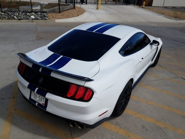 Tinted Ford Mustang at Autoplex Window Tinting in Colorado