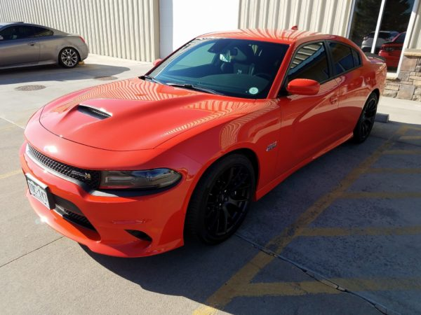 Tinted Dodge Charger at Autoplex Window Tinting in Colorado