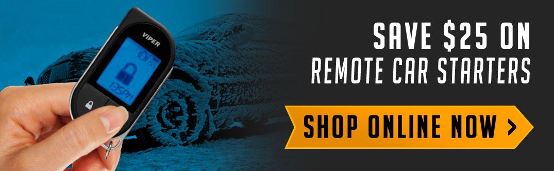 Save $25 on al vehicle remote starters. Shop online now!