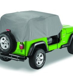 details about bestop 81035 09 charcoal all weather trail cover for 76 91 cj7 and wrangler yj [ 1500 x 1080 Pixel ]