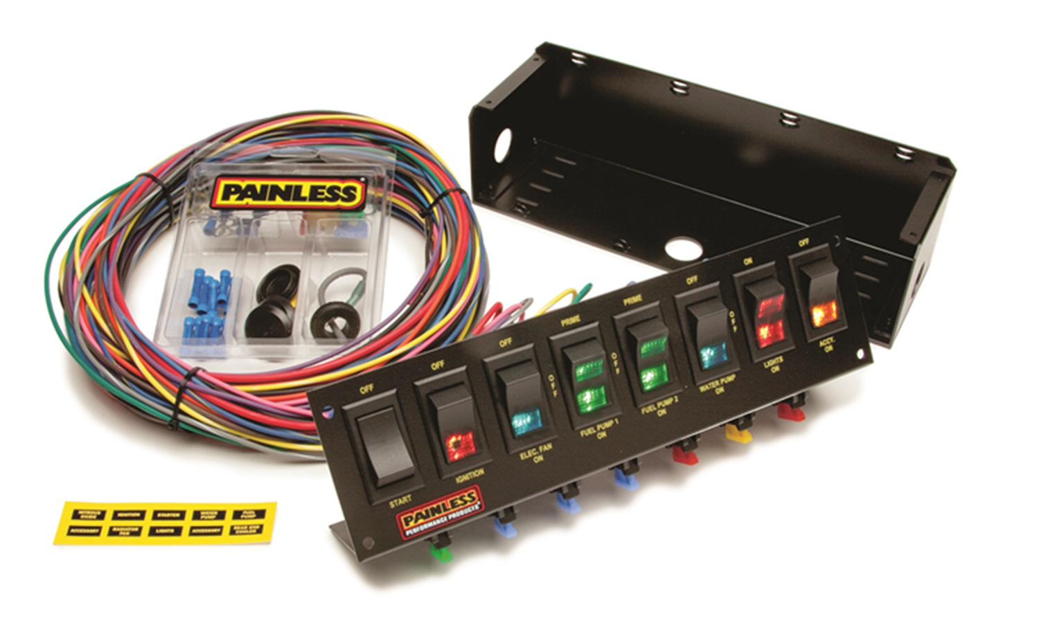 hight resolution of painless wiring 50303 fused rocker switch panel autoplicity 4 pin winch rocker switch wiring diagram lighted