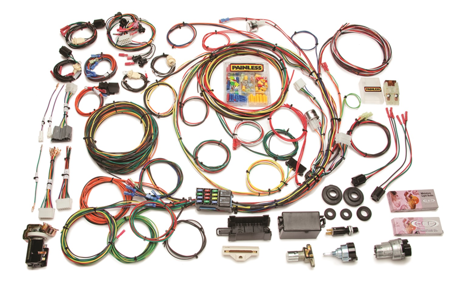 painless wiring honeywell heat only thermostat diagram 10118 12 circuit pick up harness ebay
